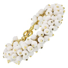 Aletto Brothers White Agate, Diamond, Gold Bracelet