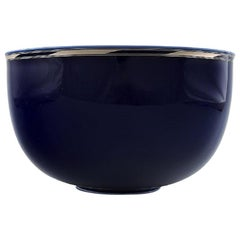Alev Siesbye for Royal Copenhagen, Bowl of Porcelain Decorated with Blue Glaze
