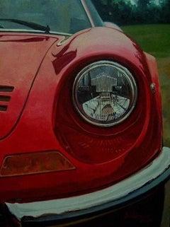 "- ""Ferrari 246 GT Dino · 1969"" original acrylic painting"