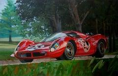 """ Ferrari  330 P4 "" original acrylic painting"
