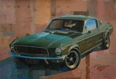 """ Mustang film ""Bullit""2017-Car original acrylic canvas painting"