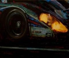 -Porsche 917- car original realist acrylic painting