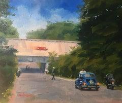 "- ""Richie Ginther - Monza 1960 - Ferrari Dino 246"" original acrylic painting"