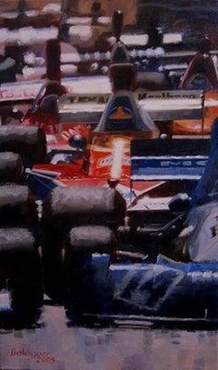 """ Sortie à Monaco 1974"" original acrylic painting"