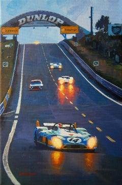 314  François Cevert Le Mans 1972 Matra-Simca MS670 original acrylic painting