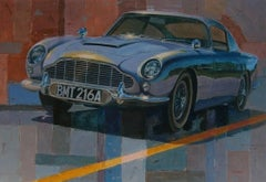 """Aston Martin film """"Goldfinger""""- Original oil canvas- Car- 2015 painting"""