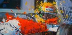 Ayrton Senna · 1991 Monaco GP · McLaren MP4/6. acrylic painting