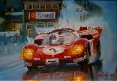 Chris Amon. Ferrari 512S. original acrylic painting