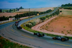 Circuito de Reims-Gueux original realist acrylic painting