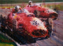Froilan Gonzalez. Ferrari 246. original painting