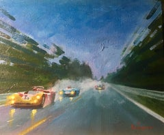 """Galli & Stommelen · Le Mans 1970 · Alfa Romeo T33-3"" original acrylic painting"