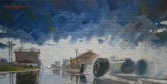 Graham Hill. BRM P261. original acrylic painting