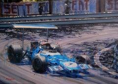Jackie Stewart. Montjuic 1969 Original paint