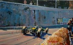 Jim Clark. Lotus-Climax 25. original acrylic painting