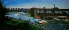 """Jo Siffert & Brian Redman Le Mans 1970 Porsche 917K"" car original painting"