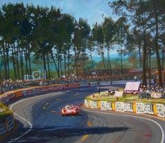Le Mans 1965 Ferrari 330 P2 acrylic painting