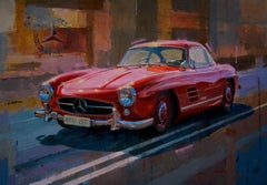 Mercedes-Benz  original realist acrylic canvas painting