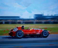 Mike Hawthorn. 1957. Ferrari 801 F1. original painting