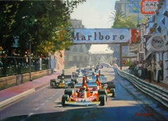 Nº 321 Clay Regazzoni 1974 Monaco GP Ferrari 312 B3  acrylic painting