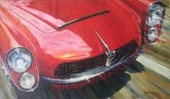 """Pegaso Z-102 Spiders Serra"" original realist acrylic painting"