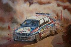 Rally Portugal 1992. Lancia Delta HF int. original painting