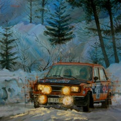 S. Cañellas & D. Ferrater, Rally Montecarlo SEAT 124 Special-original painting