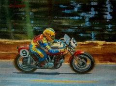 Salvador Cañellas. Ducati 900. Original painting