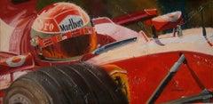 Schumacher 2001. car original figurative acrylic painting