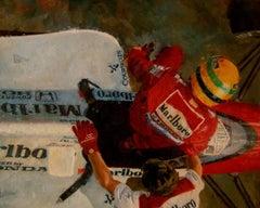 Senna 1989. Car original figurative acrylic painting
