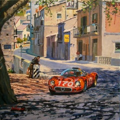 Targa Florio 1967. Alfa Romeo T33. original painting