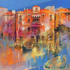 Venice inside me - contemporary Italian townscape oil painting
