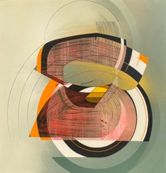 Sound System- Californian  hard edge abstract painting by Alex Couwenberg