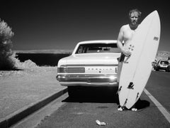 Surfer With Holden by Alex Frayne. Exclusive Image - No Other Editions. Framed.