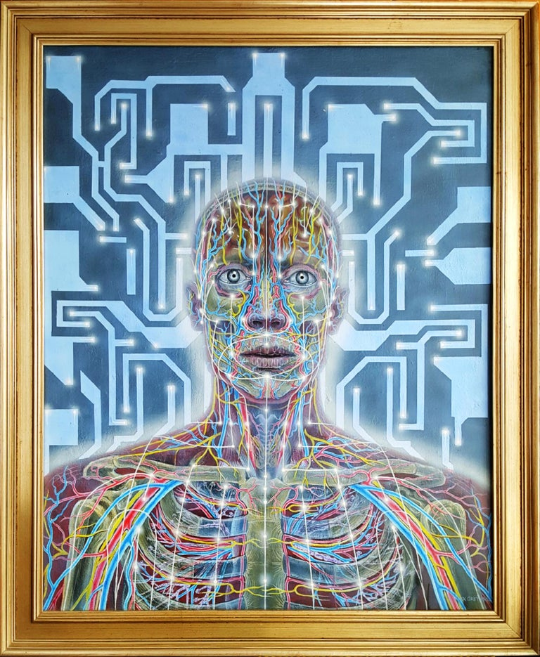 Networks - Psychedelic Man - Painting by Alex Grey