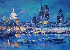 London Living VII - abstract cityscape modern painting Contemporary Art 21st