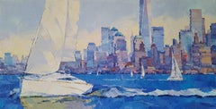 New York City 11 -  modern sky landscape 21st century contemporary oil painting