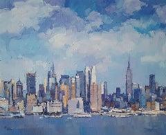 New York City 12 - abstract landscape oil painting modern Art 21st Century
