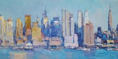 New York City 9 - original city landscape painting oil contemporary artwork