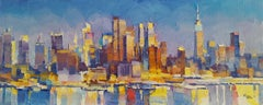 NYC IXI - abstract landscape oil painting modern Art 21st Century