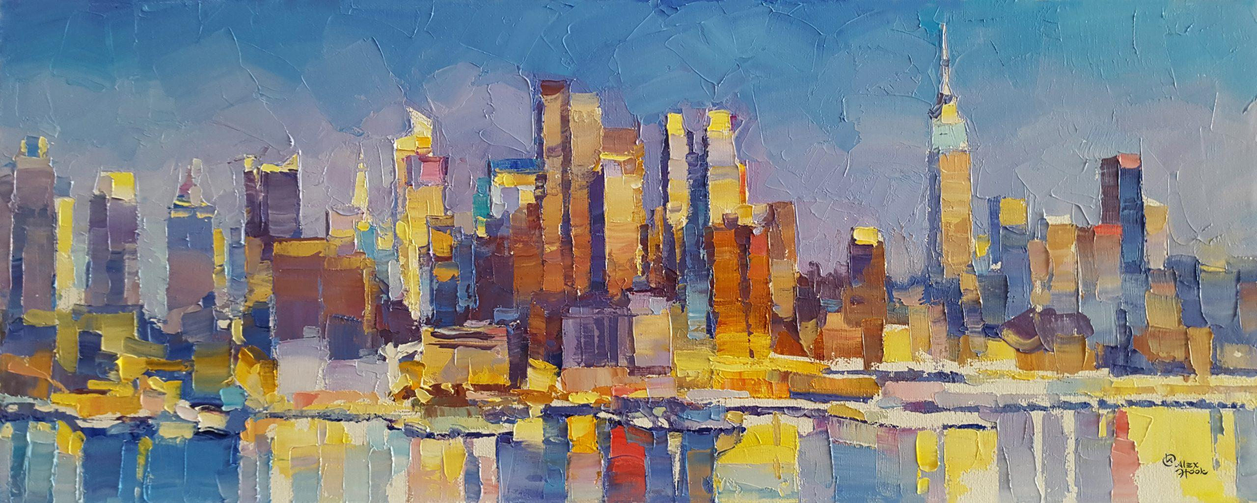 NYC IXI - abstraction New york City landscape painting contemporary architecture