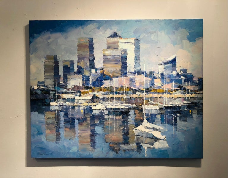 The Great City of London-Original cityscape oil painting Contemporary 21st C Art - Painting by Alex Hook Krioutchkov