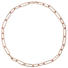 Alex Jona 18 Karat Rose Gold Link Chain Necklace