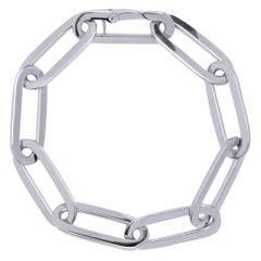 Alex Jona 18 Karat White Gold Link Chain Bracelet