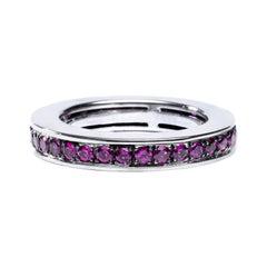 Alex Jona 18 Karat White Gold Ruby Eternity Band Ring