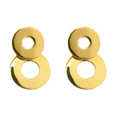 Alex Jona 18 Karat Yellow Gold Dangle Clip-On Pendant Earrings