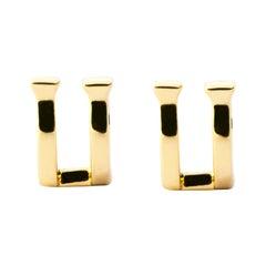 Alex Jona 18 Karat Yellow Gold Horse Nail Stud Earrings