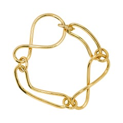 Alex Jona 18 Karat Yellow Gold Link Chain Bracelet