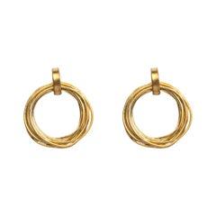 Alex Jona 18 Karat Yellow Gold Multiple Circle Stud Earrings