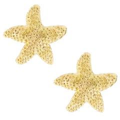 Alex Jona 18 Karat Yellow Gold Starfish Stud Earrings
