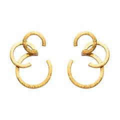 Alex Jona 18 Karat Yellow Gold Stud Earrings